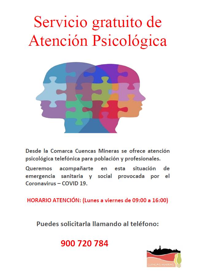 Servicio gratuito de Atención Psicológica